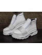 Женские ботинки Haries 238/1 белый перламутр