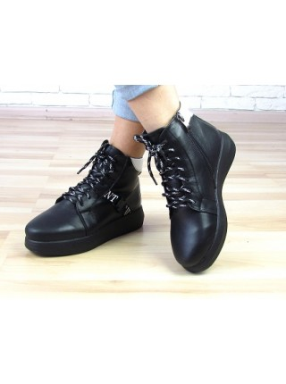 Женские ботинки Haries 510чп черная кожа