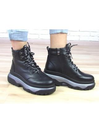 Женские ботинки Haries 505 черная кожа