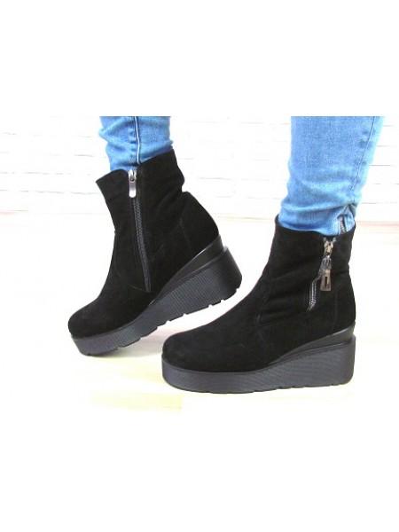 Женские ботинки Haries 537Т черная замша