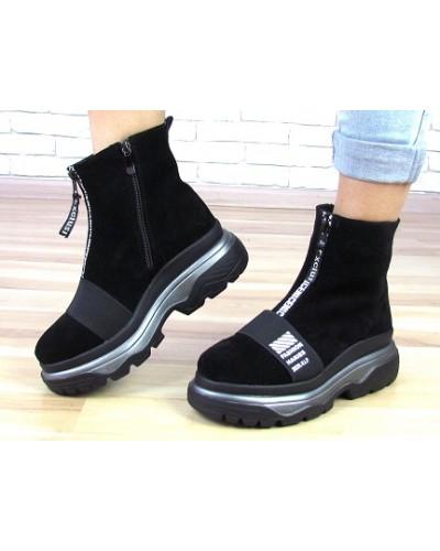 Женские ботинки Haries 543 черная замша
