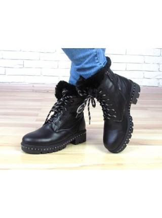 Женские ботинки Haries 400б черная кожа