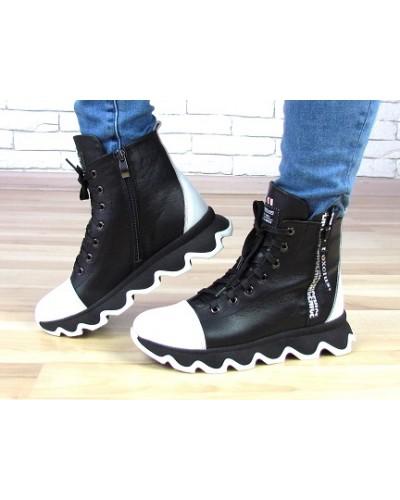 Женские ботинки Haries 480Б черная кожа
