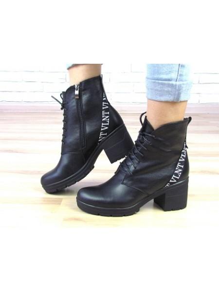 Женские ботинки Haries 37 черная кожа