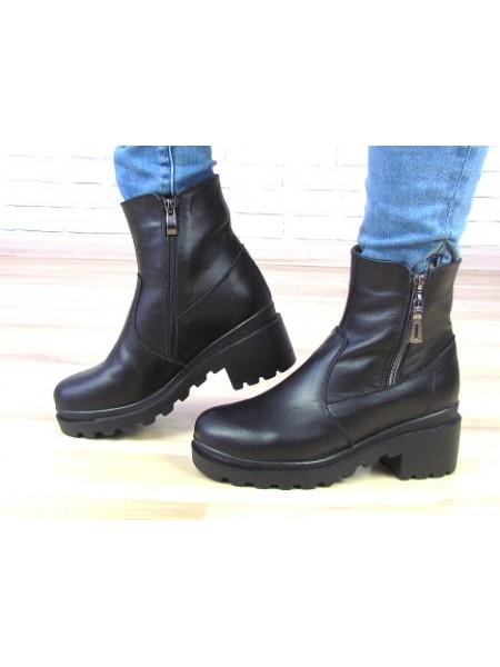 Женские ботинки Haries 537К черная кожа