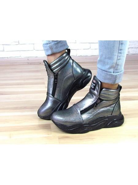 Женские ботинки Haries 340ГП бензин перламутр