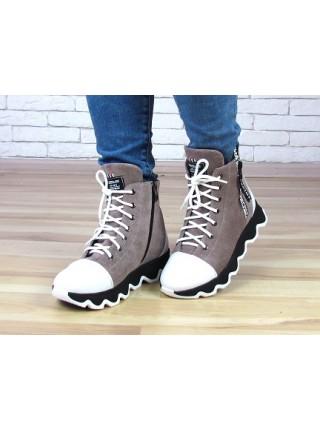 Женские ботинки Haries 480Б замша визон
