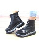Женские ботинки Haries 543 черная кожа
