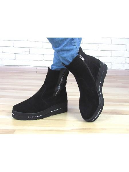 Женские ботинки Haries 537T1 черная замша