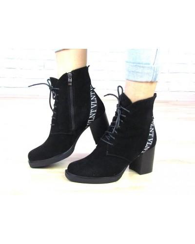 Женские ботинки Haries 37/1 черная замша