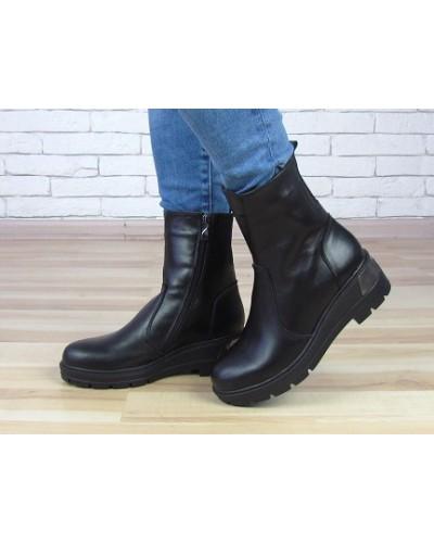 Женские ботинки Haries 378/2 черная кожа