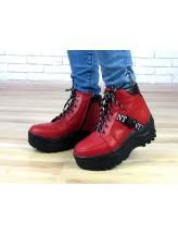 Женские ботинки Haries 508/2чп красная кожа