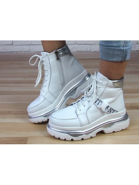 Женские ботинки Haries 508 белая кожа