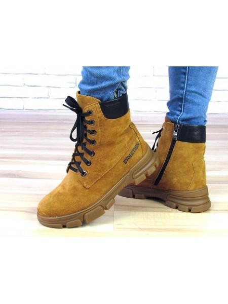 Женские ботинки Haries 530 замш рыжий
