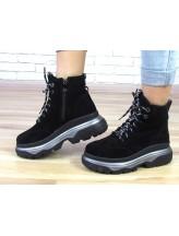 Женские ботинки Haries 505 черная замша
