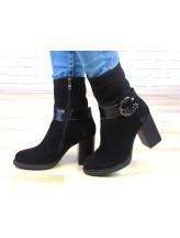 Женские ботинки Haries 872/1 замш черный