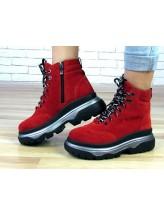 Женские ботинки Haries 505 красная замша