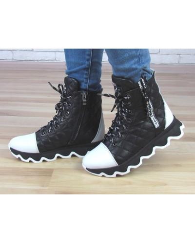 Женские ботинки Haries 480Б стеганка черная
