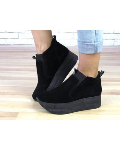 Женские ботинки Haries 363у черная замша