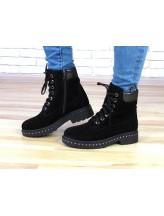 Женские ботинки Haries 530гв черная замша