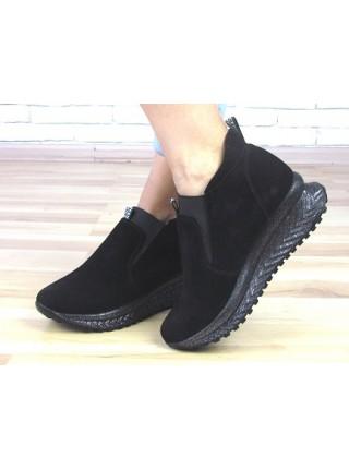 Женские ботинки Haries 363 черная замша