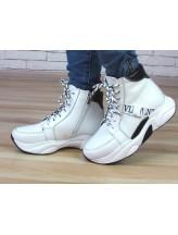 Женские ботинки Haries 508/1 белая кожа