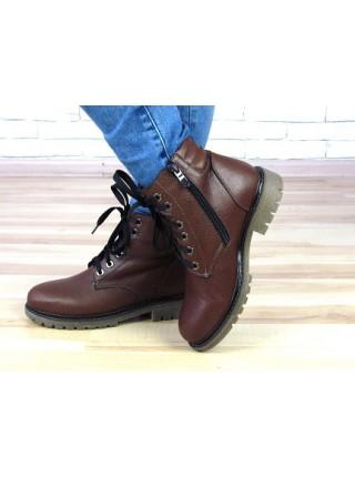 Женские ботинки Haries 500 коричневая кожа