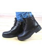 Женские ботинки Haries 500 черная кожа