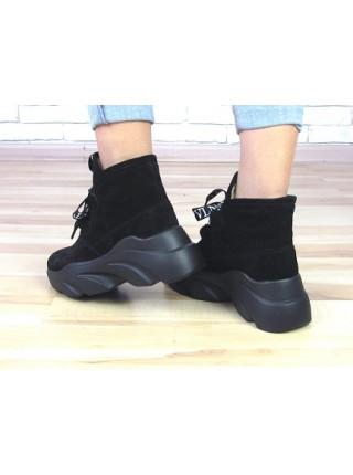 Женские ботинки Haries 420 черная замша