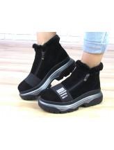 Женские ботинки Haries 238/1з черная замша