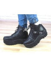 Женские ботинки Haries 508/2чп черная кожа