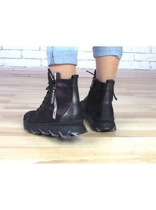 Женские ботинки Haries 480л бордо графит