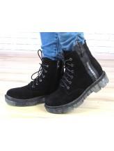 Женские ботинки Haries 227 черная замша