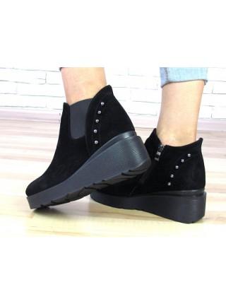 Женские ботинки Haries 218т черная замша
