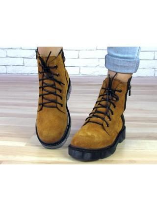 Женские ботинки Haries 227 рыжая замша