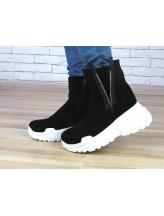 Женские ботинки Haries 537с бп черная замша