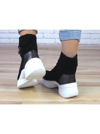 Женские ботинки Haries 540 черная замша