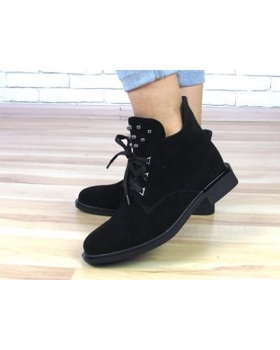Женские ботинки Haries 235 черная замша