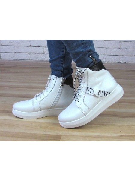 Женские ботинки Haries 510бп белая кожа