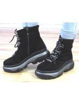 Женские ботинки Haries 545 замш черный