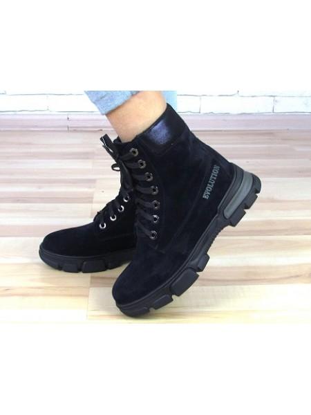 Женские ботинки Haries 530 замш синий