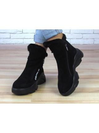 Женские ботинки Haries 637с черная замша