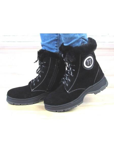 Женские ботинки Haries 400 черная замша