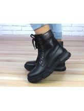 Женские ботинки Haries 530 кожа черный