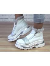 Женские ботинки Haries 238/1з белая кожа