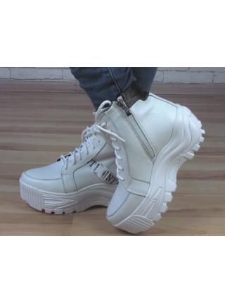 Женские ботинки Haries 508/2 белая кожа