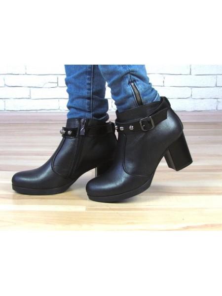 Женские ботинки Haries 616/1 черная кожа