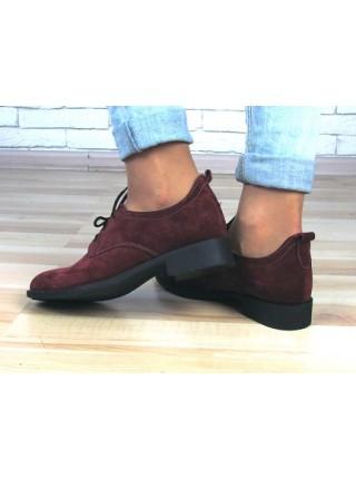 Женские туфли Haries 280 бордо замша