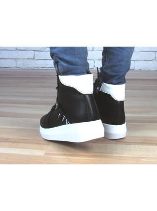 Женские ботинки Haries 510бп черная кожа