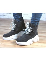 Женские ботинки Haries 420 серая замша